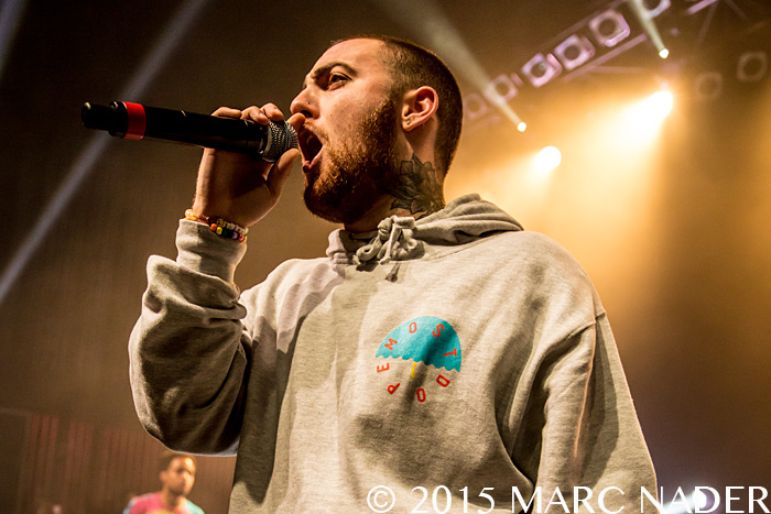Mac Miller performing on the GO:OD AM Tour at The Fillmore in Detroit, MI on October 14th 2015 Photo by Marc Nader