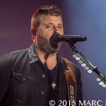 Randy Houser performing on Luke Bryan's  Kick The Dust Up Tour at Ford Field in Detroit, MI on October 30th 2015 Photo by Marc Nader