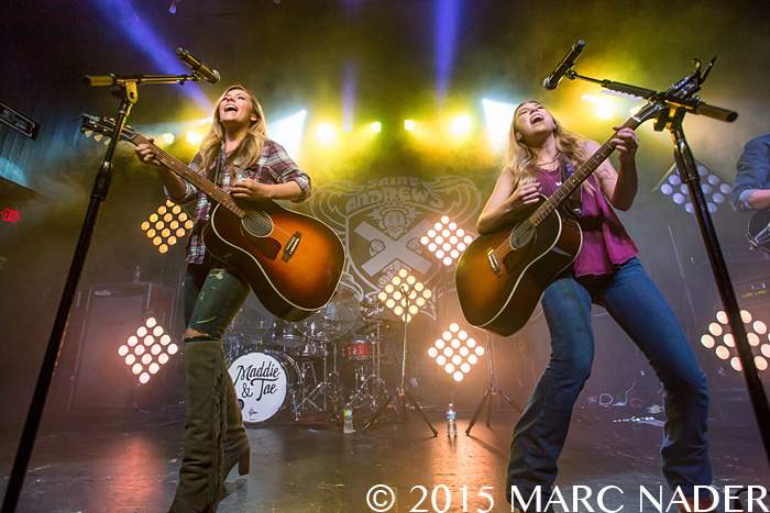 "Maddie & Tae performing on their ""Start Here Tour"" at Saint Andrews Hall in Detroit, MI on November 6th 2015 Photo by Marc Nader"