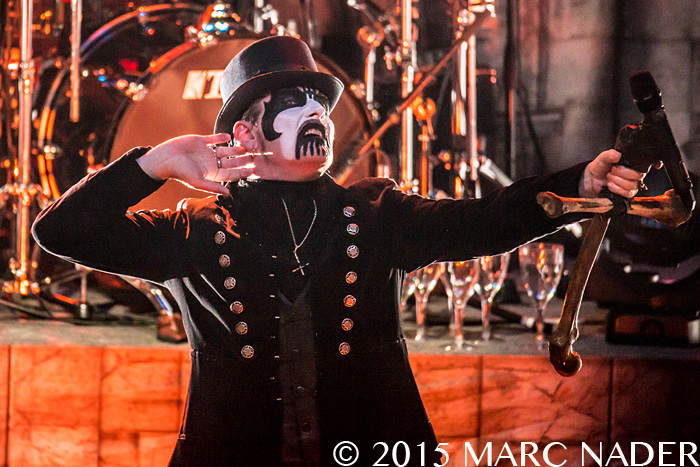 King Diamond performing Abigail in Concert 2015 for the filming of the band's first ever live DVD / blu-ray at The Fillmore in Detroit, MI on November 28th 2015 Photo by Marc Nader