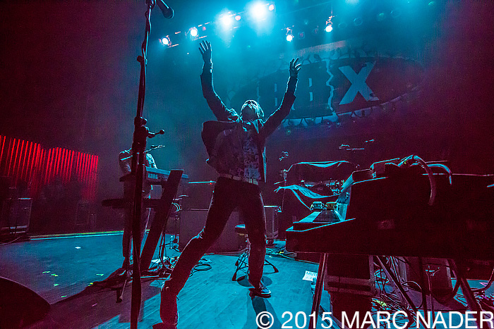 Mutemath performing on The Night 89X Stole Xmas at The Fillmore in Detroit, MI on December 19th 2015 Photo by Marc Nader