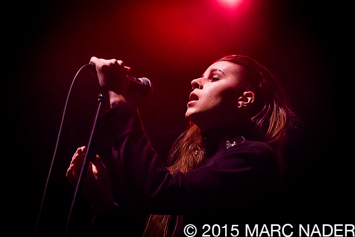 Pvris performing on The Night 89X Stole Xmas Show at The Fillmore in Detroit, MI on December 18th 2015 Photo by Marc Nader