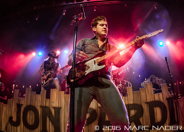 "Jon Pardi performing on his ""All Time High Tour"" at Saint Andrews Hall in Detroit, MI on January 9th 2016 Photo by Marc Nader"