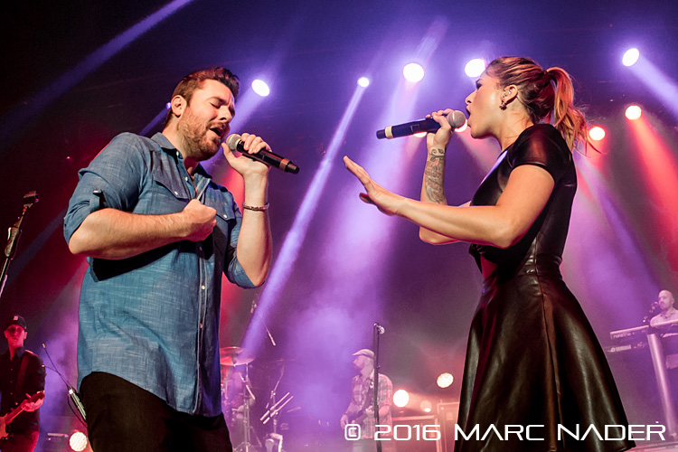 Chris Young performing on his I'm Comin' Over Tour with special appearance by Cassadee Pope at The Royal Oak Music Theatre in Royal Oak, MI on February 5th 2016 Photo by Marc Nader