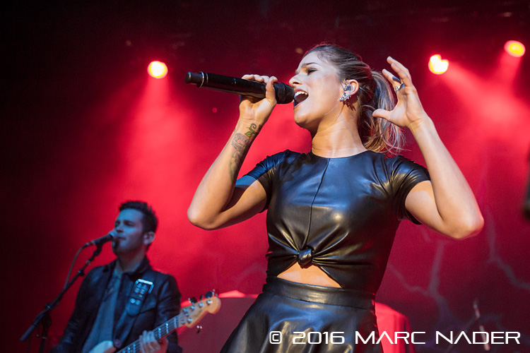 Cassadee Pope performing on Chris Young's I'm Comin' Over Tour at The Royal Oak Music Theatre in Royal Oak, MI on February 5th 2016 Photo by Marc Nader