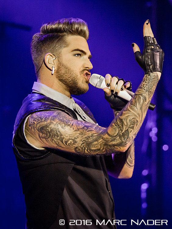 Adam Lambert Performing on The Original High Tour at The Fillmore in Detroit, MI on March 25th 2016 Photo by Marc Nader