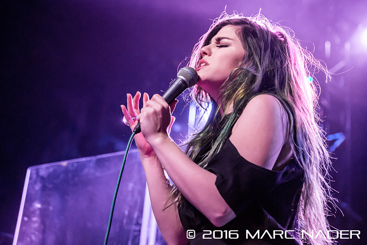 Phoebe Ryan performing on Charlie Puth's Nine Track Mind Tour at Saint Andrews Hall in Detroit, MI on March 29th 2016 Photo by Marc Nader