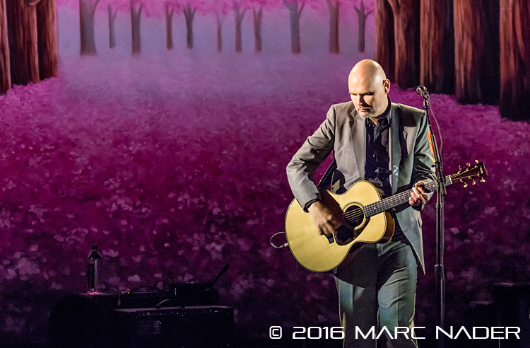 "The Smashing Pumpkins performing on their ""In Plainsong"" An Acoustic-Electro Evening tour at The Fillmore in Detroit, MI on April 1st 2016 Photo by Marc Nader"
