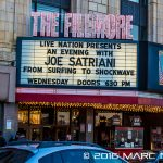 """Joe Satriani performing on his """"Surfing To Shockwave"""" tour at The Fillmore in Detroit, MI on April 13th 2016 Photo by Marc Nader"""