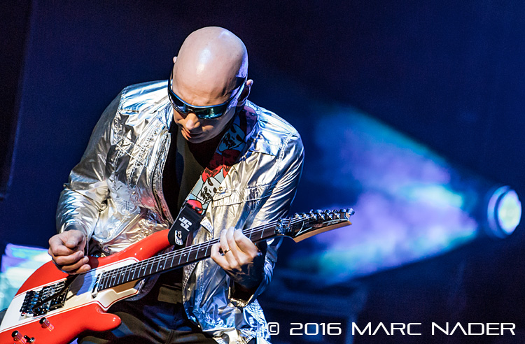 "Joe Satriani performing on his ""Surfing To Shockwave"" tour at The Fillmore in Detroit, MI on April 13th 2016 Photo by Marc Nader"