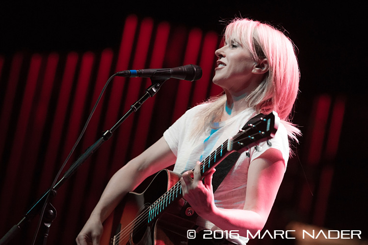 "Liz Phair performing on The Smashing Pumpkins ""In Plainsong"" An Acoustic-Electro Evening tour at The Fillmore in Detroit, MI on April 1st 2016 Photo by Marc Nader"