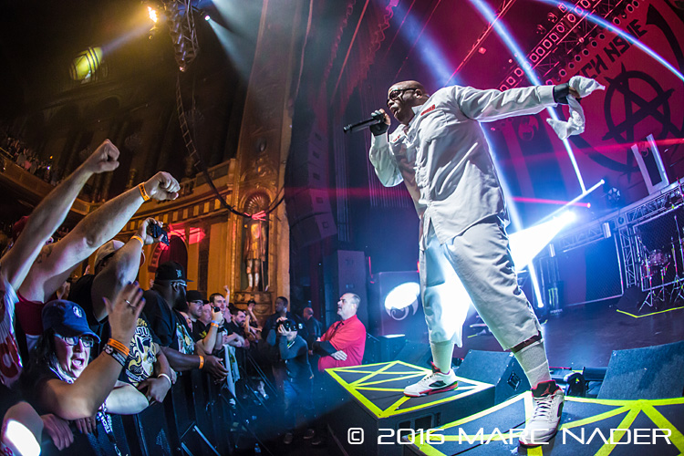 Tech N9ne with Krizz Kaliko performing on the Independent Powerhouse Tour at The Fillmore in Detroit, MI on April 24th 2016 Photo by Marc Nader