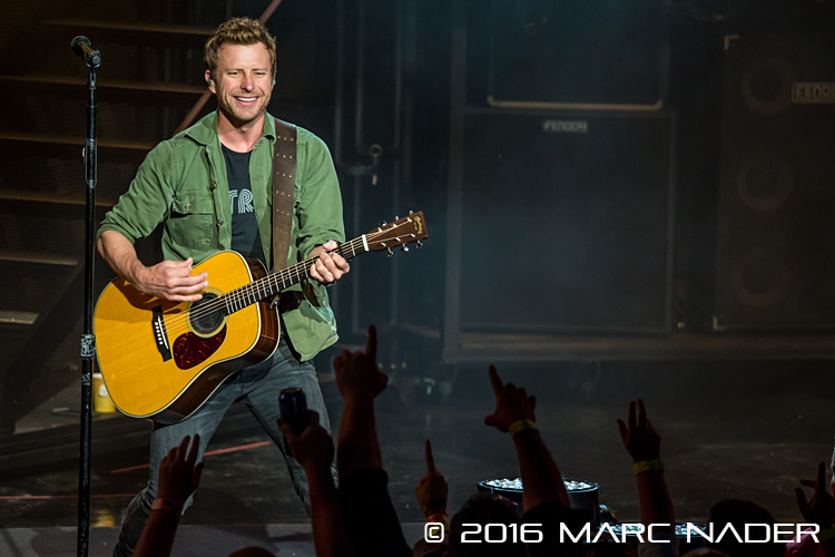 "Dierks Bentley performing on his ""Somewhere On A Beach"" Tour at DTE Energy Music Theatre in Clarkston, MI on May 22nd 2016 Photo by Marc Nader"