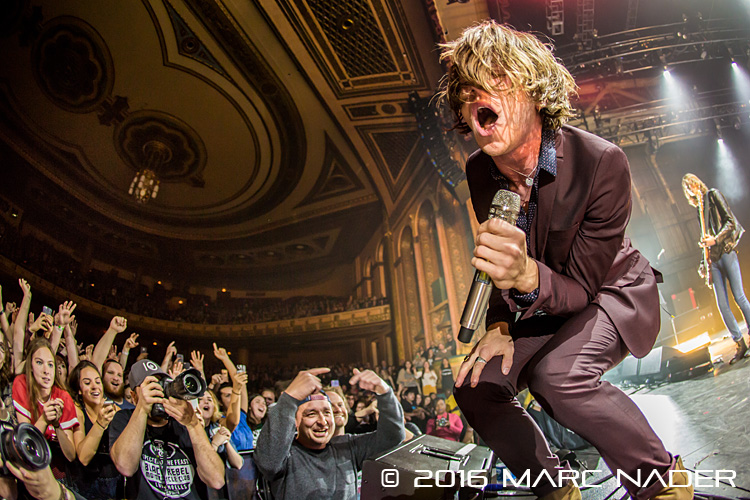 Cage The Elephant performing on their Spring Fling Rock AF 2016 Tour at The Masonic Temple in Detroit, MI on May 7th 2016 Photo by Marc Nader