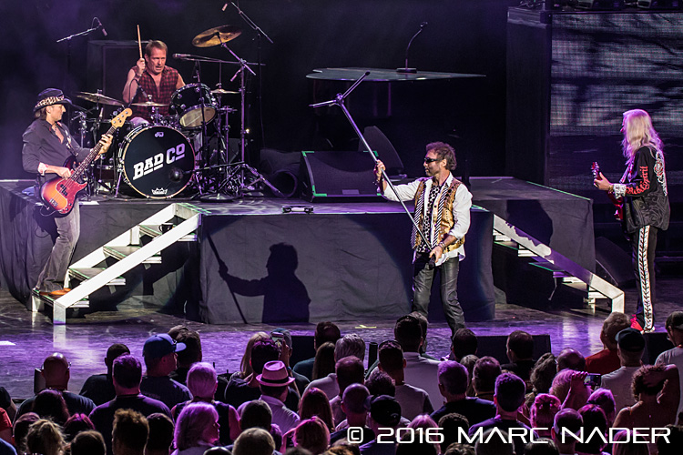 """Bad Company performing on the """"One Hell Of A Night Tour"""" at DTE Energy Music Theatre in Clarkston, MI on June 22nd 2016 Photo by Marc Nader"""