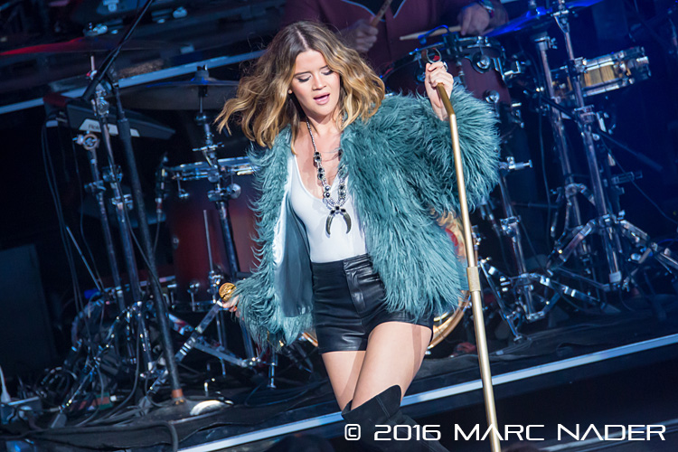 "Maren Morris performing on Keith Urban's ""Ripcord World Tour"" at DTE Energy Music Theatre in Clarkston, MI on June 23rd 2016 Photo by Marc Nader"