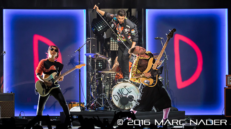 "DNCE performing on Selena Gomez's ""Revival Tour"" at the Palace of Auburn Hills in Auburn Hills, MI on June 24th 2016 Photo by Marc Nader"