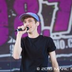Troye Sivan performing on the 98.7 AMP Live 2016 show at Freedom Hill in Sterling Heights, MI on June 25th 2016 Photo by Marc Nader