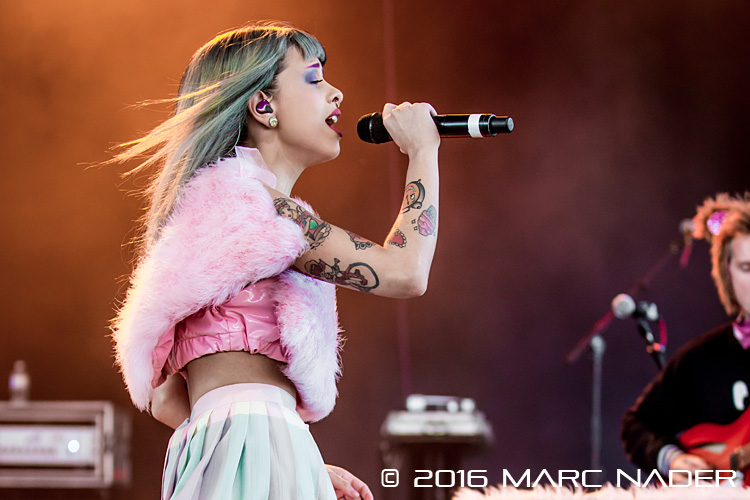 Melanie Martinez performing on the 98.7 AMP Live 2016 show at Freedom Hill in Sterling Heights, MI on June 25th 2016 Photo by Marc Nader