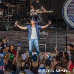 "Cole Swindell performing on Florida Georgia Line's ""Dig Your Roots Tour"" at DTE Energy Music Theatre in Clarkston, MI on June 17th 2016 Photo by Marc Nader"