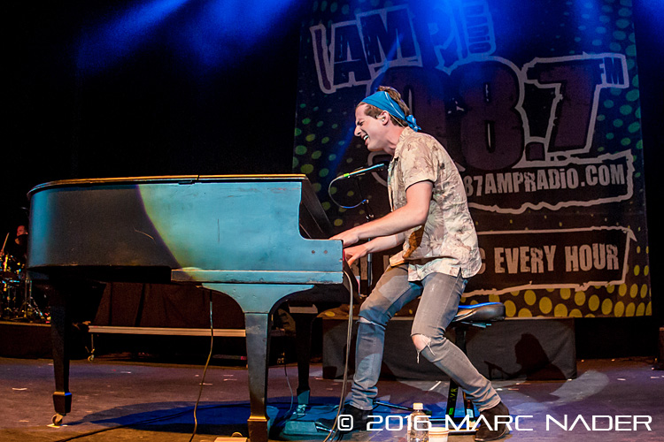 Charlie Puth performing on the 98.7 AMP Live 2016 show at Freedom Hill in Sterling Heights, MI on June 25th 2016 Photo by Marc Nader