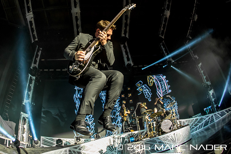 "Panic! at the Disco performing on the ""Weezer & Panic! at the Disco Summer Tour"" at DTE Energy Music Theatre in Clarkston, MI on July 8th 2016 Photo by Marc Nader"