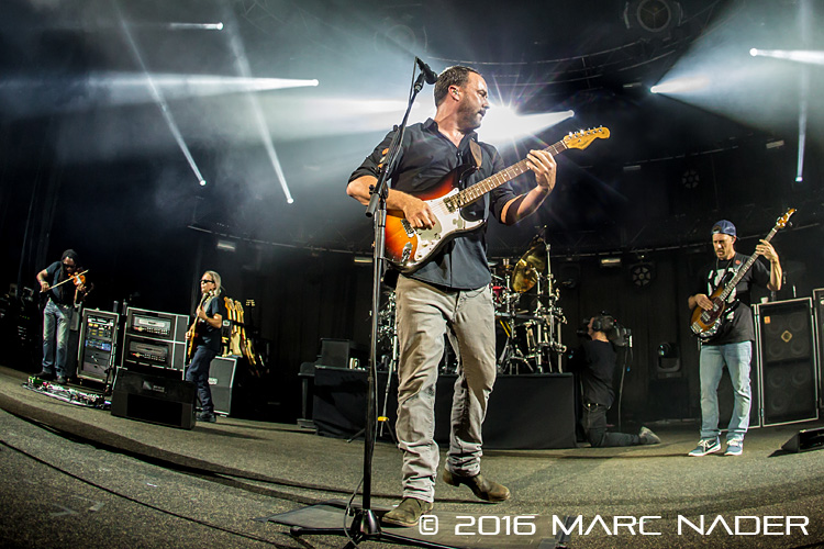 "Dave Matthews Band performing on their ""Summer 2016 Tour"" at DTE Energy Music Theatre in Clarkston, MI on July 20th 2016 Photo by Marc Nader"