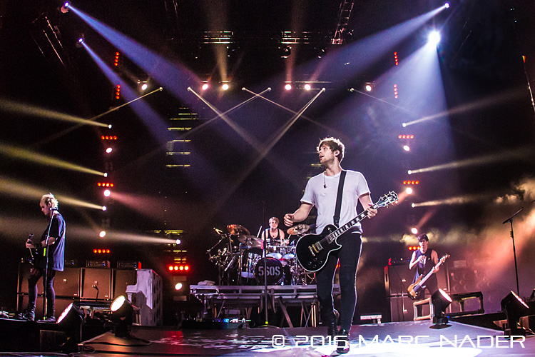 5 Seconds of Summer performing on their Sounds Live Feels Live World