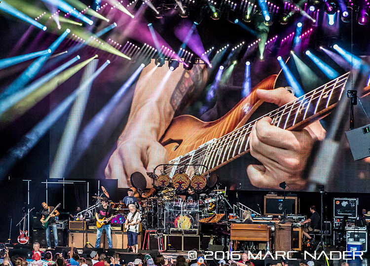 "Dead & Company performing on their ""2016 Summer Tour"" at DTE Energy Music Theatre in Clarkston, MI on July 7th 2016 Photo by Marc Nader"