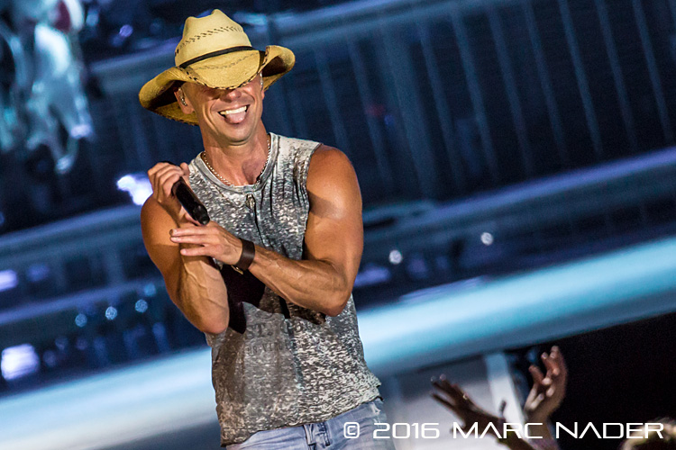 "Kenny Chesney performing on his ""Spread The Love Tour"" at Ford Field in Detroit, MI on August 13th 2016 Photo by Marc Nader"