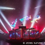 Flume performing on his World Tour at the Masonic Temple in Detroit, MI on August 22nd 2016 Photo by Marc Nader