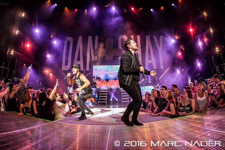 Dan + Shay performing on Darius Rucker's Good For A Good Time Tour at DTE Energy Music Theatre in Clarkston, MI on August 25th 2016 Photo by Marc Nader