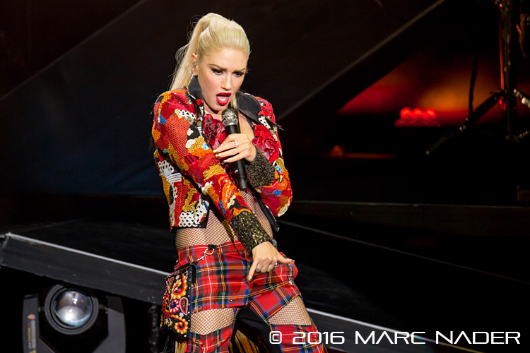 "Gwen Stefani performing on her ""This is What The Truth Feels Like Tour"" at DTE Energy Music Theatre in Clarkston, MI on August 2nd 2016 Photo by Marc Nader"