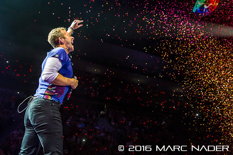 "Coldplay performing on their ""A Head Full of Dreams Tour"" at the Palace of Auburn Hills in Auburn Hills, MI on August 3rd 2016 Photo by Marc Nader"