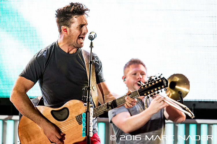 "Jake Owen performing on Kenny Chesney's ""Spread The Love Tour"" at Ford Field in Detroit, MI on August 13th 2016 Photo by Marc Nader"