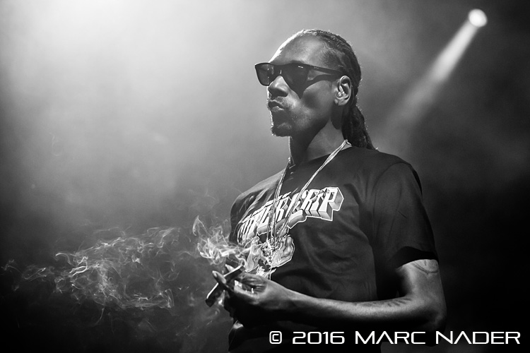 "Snoop Dogg and Wiz Khalifa performing on ""The High Road Tour"" at DTE Energy Music Theatre in Clarkston, MI on August 12th 2016 Photo by Marc Nader"