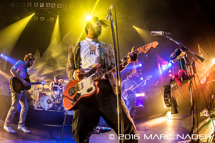 Young the Giant performing on their Home Of The Strange Tour at The Fillmore in Detroit, MI on September 23rd 2016 photo by Marc Nader