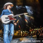 Justin Moore performing on Brantley Gilbert's Take It Outside Tour at DTE Energy Music Theatre in Clarkston, MI on September 24th 2016 Photo by Marc Nader