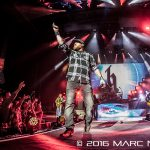 Brantley Gilbert performing on his Take It Outside Tour at DTE Energy Music Theatre in Clarkston, MI on September 24th 2016 Photo by Marc Nader