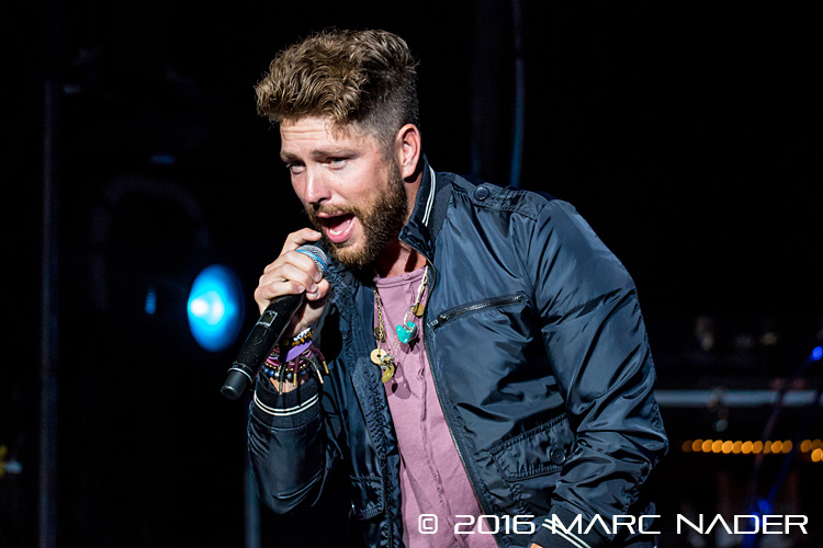 Chris Lane performing on Rascal Flatts Rhythm & Roots Tour at DTE Energy Music Theatre in Clarkston, MI on September 15th 2016 Photo by Marc Nader