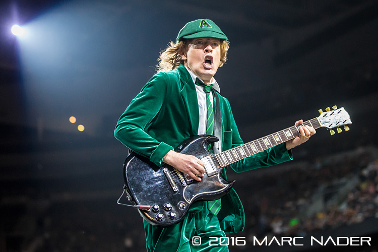 AC/DC with Axl Rose on lead vocals performing on the Rock or Bust World Tour at the Palace of Auburn Hills in Auburn Hills, MI on September 9th 2016 Photo by Marc Nader