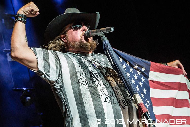 Colt Ford performing on Brantley Gilbert's Take It Outside Tour at DTE Energy Music Theatre in Clarkston, MI on September 24th 2016 Photo by Marc Nader