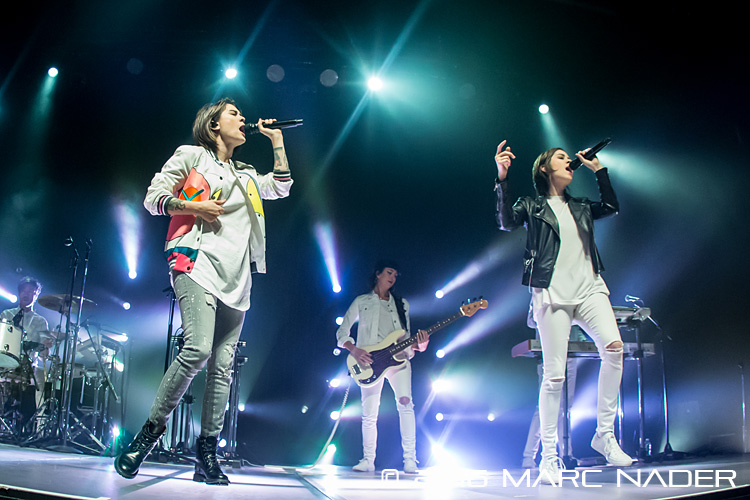 Tegan and Sara performing on their Love You To Death Tour at The Royal Oak Music Theatre in Royal Oak, MI on October 26th 2016 Photo by Marc Nader