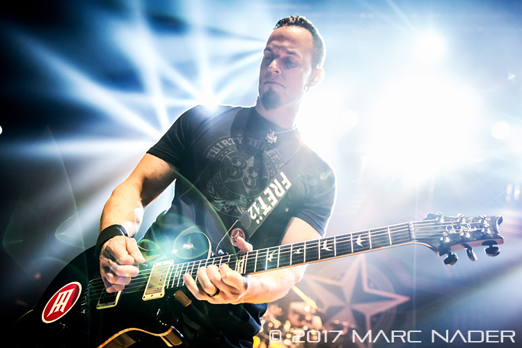 Alter Bridge performing on The Last Hero Tour at the Royal Oak Music Theatre in Royal Oak, MI on January 24th 2017 Photo by Marc Nader