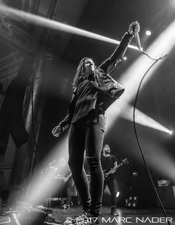 Underoath performing on The American Nightmare Tour at the Masonic Temple in Detroit, MI on March 14th 2017 Photo by Marc Nader