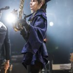 PJ Harvey performing on The Hope Six Demolition Project Tour at the Royal Oak Music Theatre in Royal Oak, MI on April 24th 2017 photo by Marc Nader