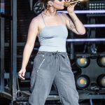 Maren Morris performing on Sam Hunt's 15 IN A 30 Tour at DTE Energy Music Theatre in Clarkston, MI on June 16th 2017 Photo by Marc Nader