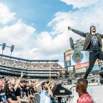Avenged Sevenfold performing on Metallica's North American WorldWired Tour at Comerica Park in Detroit, MI on July 12th 2017 Photo by Marc Nader