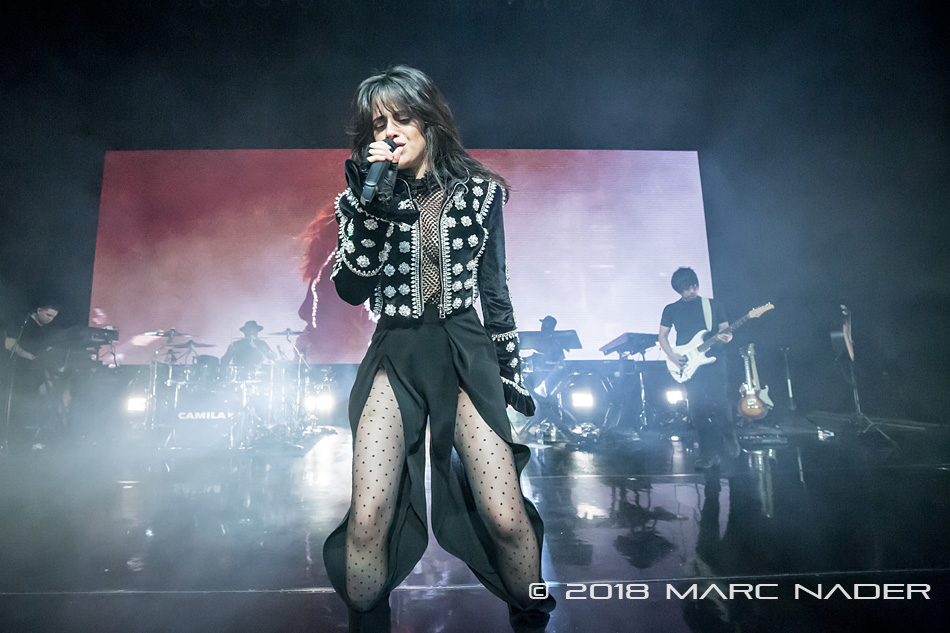 Camila Cabello performing on her Never Be The Same Tour at