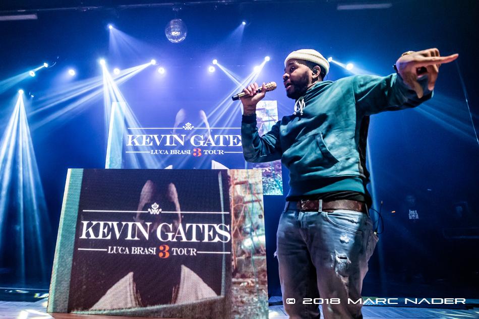 Kevin Gates performing on his Luca Brasi 3 Tour at the Royal